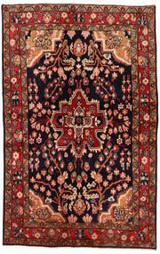 Mahal Dywan 137X213 Orientalny Tkany Ręcznie Ciemnoczerwony/Ciemnobrązowy (Wełna, Persja/Iran)