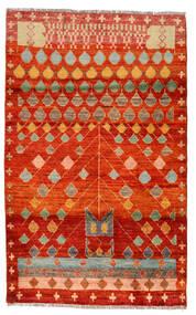 Moroccan Berber - Afghanistan Dywan 115X186 Nowoczesny Tkany Ręcznie Rdzawy/Czerwony/Brązowy (Wełna, Afganistan)