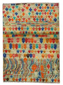 Moroccan Berber - Afghanistan Dywan 96X136 Nowoczesny Tkany Ręcznie Jasnozielony/Czerwony (Wełna, Afganistan)