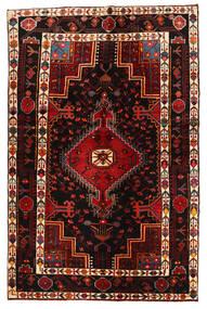 Hamadan Dywan 127X195 Orientalny Tkany Ręcznie Ciemnobrązowy/Ciemnoczerwony (Wełna, Persja/Iran)