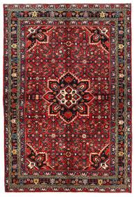 Hosseinabad Dywan 158X235 Orientalny Tkany Ręcznie Ciemnoczerwony/Ciemnobrązowy (Wełna, Persja/Iran)