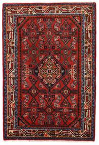 Hamadan Dywan 78X117 Orientalny Tkany Ręcznie Rdzawy/Czerwony/Ciemnoczerwony/Czarny (Wełna, Persja/Iran)