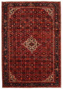 Hosseinabad Dywan 213X310 Orientalny Tkany Ręcznie Ciemnoczerwony/Rdzawy/Czerwony (Wełna, Persja/Iran)