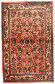 Saruk Dywan 100X165 Orientalny Tkany Ręcznie Ciemnobrązowy/Ciemnoczerwony (Wełna, Persja/Iran)