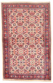 Saruk Dywan 99X154 Orientalny Tkany Ręcznie Ciemnofioletowy/Ciemnobeżowy (Wełna, Persja/Iran)