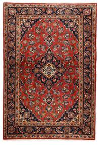 Keszan Dywan 100X146 Orientalny Tkany Ręcznie Ciemnobrązowy/Rdzawy/Czerwony (Wełna, Persja/Iran)