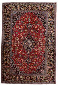 Keszan Dywan 140X210 Orientalny Tkany Ręcznie Ciemnoczerwony (Wełna, Persja/Iran)