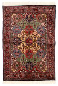 Kazak Dywan 135X192 Orientalny Tkany Ręcznie Ciemnoczerwony/Czarny (Wełna, Pakistan)