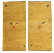 Gabbeh Indie Dywan 60X122 Nowoczesny Tkany Ręcznie Żółty/Jasnobrązowy (Wełna, Indie)