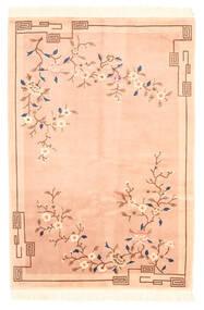 Chińskie Stylizowany Na Antyk Dywan 122X183 Orientalny Tkany Ręcznie Ciemnobeżowy/Beżowy (Wełna, Chiny)