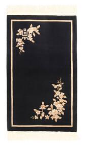 Chińskie 90 Line Dywan 91X152 Orientalny Tkany Ręcznie Czarny/Beżowy (Wełna, Chiny)