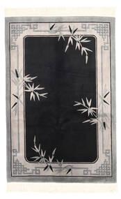 Chińskie Stylizowany Na Antyk Dywan 122X183 Orientalny Tkany Ręcznie Czarny/Jasnoszary (Wełna, Chiny)