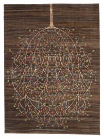 Gabbeh Loribaft Dywan 170X227 Nowoczesny Tkany Ręcznie Ciemnobrązowy/Brązowy (Wełna, Indie)
