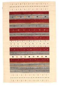 Loribaf Loom Dywan 157X241 Nowoczesny Tkany Ręcznie Ciemnobeżowy/Beżowy/Ciemnoczerwony (Wełna, Indie)