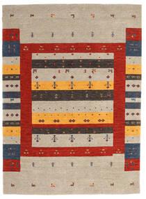 Loribaf Loom Dywan 175X240 Nowoczesny Tkany Ręcznie Jasnoszary/Rdzawy/Czerwony (Wełna, Indie)