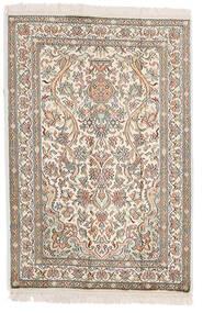Kaszmir Czysty Jedwab Dywan 64X95 Orientalny Tkany Ręcznie Jasnoszary/Beżowy (Jedwab, Indie)