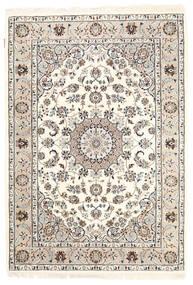 Nain Indie Dywan 125X181 Orientalny Tkany Ręcznie Beżowy/Jasnoszary ( Indie)