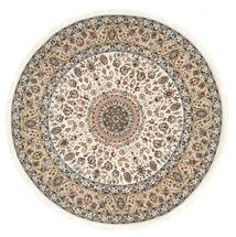 Nain Indie Dywan Ø 243 Orientalny Tkany Ręcznie Okrągły Jasnoszary/Beżowy ( Indie)