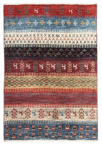 Gabbeh (Persja) Dywan 60X89 Nowoczesny Tkany Ręcznie Ciemnoczerwony/Niebieski (Wełna, Persja/Iran)