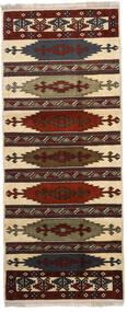 Turkmeński Dywan 87X210 Orientalny Tkany Ręcznie Chodnik Ciemnobrązowy/Jasnobrązowy (Wełna, Persja/Iran)