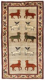 Kaszkaj Dywan 116X211 Orientalny Tkany Ręcznie Beżowy/Ciemnoczerwony (Wełna, Persja/Iran)