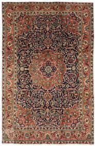 Tebriz Dywan 196X308 Orientalny Tkany Ręcznie Ciemnobrązowy/Ciemnoszary (Wełna, Persja/Iran)