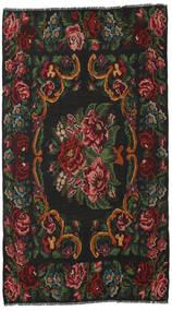 Kilim Rose Moldavia Dywan 186X326 Orientalny Tkany Ręcznie Ciemnoszary/Ciemnoczerwony (Wełna, Mołdawia)
