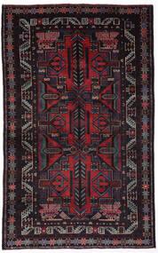 Beludż Dywan 110X190 Orientalny Tkany Ręcznie Ciemnobrązowy/Ciemnoczerwony (Wełna, Afganistan)