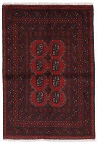 Afgan Dywan 97X141 Orientalny Tkany Ręcznie Ciemnobrązowy/Ciemnoczerwony (Wełna, Afganistan)