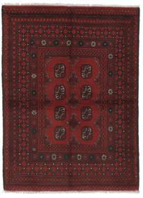 Afgan Dywan 100X138 Orientalny Tkany Ręcznie Czarny (Wełna, Afganistan)
