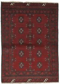 Afgan Dywan 96X138 Orientalny Tkany Ręcznie Czarny/Ciemnobrązowy (Wełna, Afganistan)