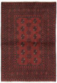 Afgan Dywan 94X153 Orientalny Tkany Ręcznie Czarny/Ciemnobrązowy (Wełna, Afganistan)