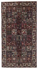 Baktjar Dywan 156X288 Orientalny Tkany Ręcznie Chodnik Czarny/Ciemnobrązowy (Wełna, Persja/Iran)