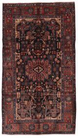 Nahawand Dywan 156X280 Orientalny Tkany Ręcznie Chodnik Czarny/Ciemnobrązowy (Wełna, Persja/Iran)