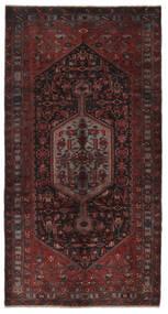 Hamadan Dywan 160X309 Orientalny Tkany Ręcznie Chodnik Czarny (Wełna, Persja/Iran)