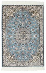 Nain 9La Dywan 80X117 Orientalny Tkany Ręcznie Czarny/Jasnoszary (Wełna/Jedwab, Persja/Iran)