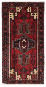 Hamadan Dywan 97X196 Orientalny Tkany Ręcznie Czarny/Ciemnobrązowy (Wełna, Persja/Iran)