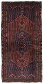 Hamadan Dywan 105X207 Orientalny Tkany Ręcznie Czarny/Ciemnobrązowy (Wełna, Persja/Iran)