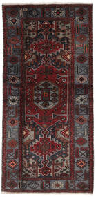 Hamadan Dywan 106X213 Orientalny Tkany Ręcznie Czarny (Wełna, Persja/Iran)