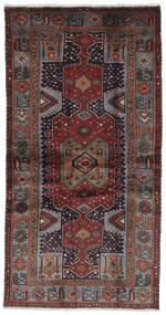 Hamadan Dywan 100X193 Orientalny Tkany Ręcznie Czarny/Ciemnobrązowy (Wełna, Persja/Iran)