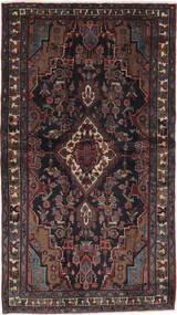 Hamadan Dywan 113X200 Orientalny Tkany Ręcznie Czarny/Ciemnobrązowy (Wełna, Persja/Iran)