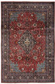 Mahal Dywan 206X318 Orientalny Tkany Ręcznie Czarny/Ciemnobrązowy (Wełna, Persja/Iran)