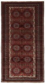 Beludż Dywan 158X303 Orientalny Tkany Ręcznie Chodnik Czarny/Ciemnobrązowy (Wełna, Persja/Iran)