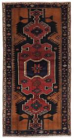 Hamadan Dywan 103X204 Orientalny Tkany Ręcznie Czarny/Ciemnobrązowy (Wełna, Persja/Iran)