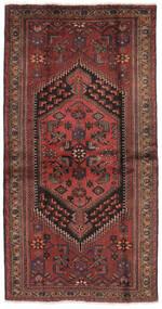 Hamadan Dywan 104X201 Orientalny Tkany Ręcznie Czarny/Ciemnobrązowy (Wełna, Persja/Iran)