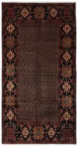 Hamadan Dywan 155X300 Orientalny Tkany Ręcznie Chodnik Czarny (Wełna, Persja/Iran)