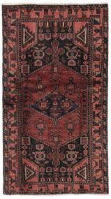 Hamadan Dywan 101X186 Orientalny Tkany Ręcznie Czarny/Ciemnobrązowy (Wełna, Persja/Iran)