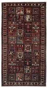 Baktjar Dywan 160X305 Orientalny Tkany Ręcznie Chodnik Czarny/Ciemnobrązowy (Wełna, Persja/Iran)