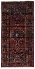 Hamadan Dywan 104X212 Orientalny Tkany Ręcznie Czarny (Wełna, Persja/Iran)