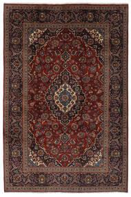 Keszan Dywan 203X302 Orientalny Tkany Ręcznie Czarny/Ciemnobrązowy (Wełna, Persja/Iran)